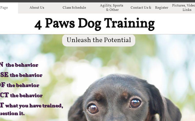 4 Paws Training logo