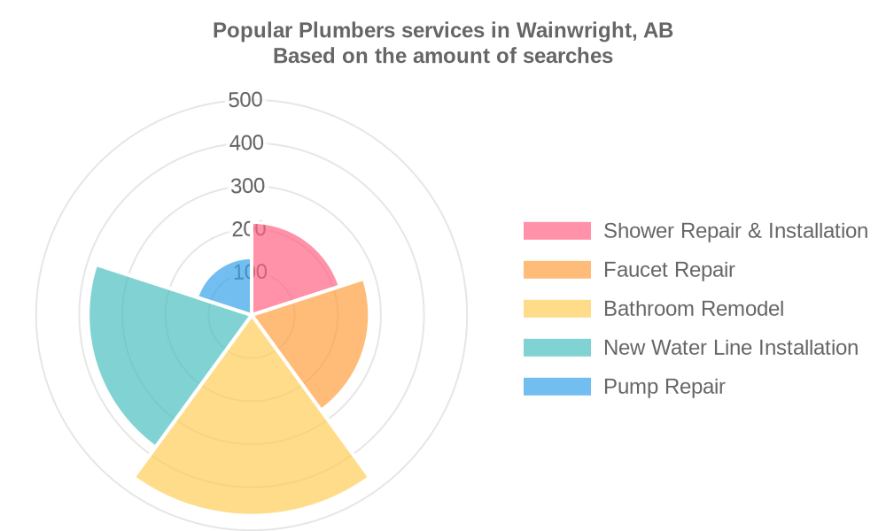 Popular services provided by plumbers in Wainwright, AB