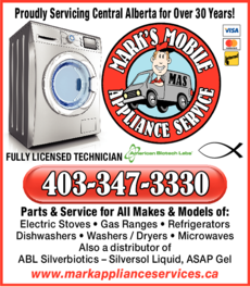 Print Ad of Mark's Mobile Appliance Service