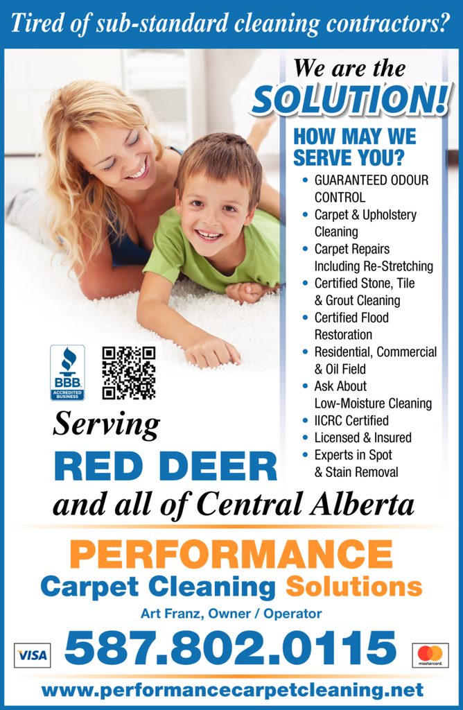 Print Ad of Performance Carpet Cleaning Solutions