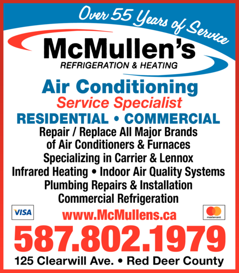 Print Ad of Mcmullen's Refrigeration & Heating Ltd