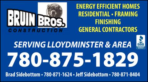 Print Ad of Bruin Bros Construction