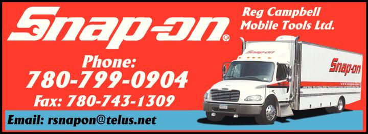 Print Ad of Snap-On Tools Reg Campbell Mobile Tools Ltd