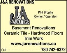 Print Ad of J&A Renovations