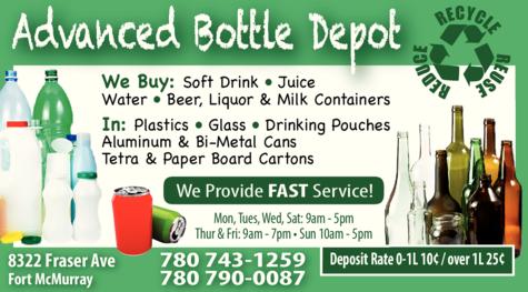 Print Ad of Advanced Bottle Depot