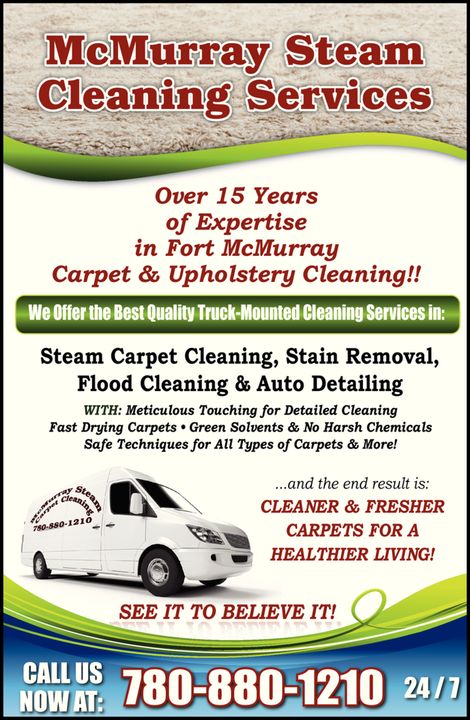 Print Ad of Mcmurray Steam Cleaning Services