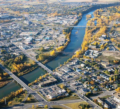 """Picture for article """"History of Red Deer Development"""""""